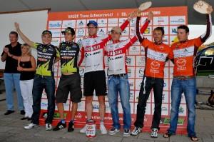090814_GER_TransSchwarzwald_stage6_Engen-Grafenhausen_ceremony_stage_genze_kugler_bettingermrudigerb_stribel_kaufmann
